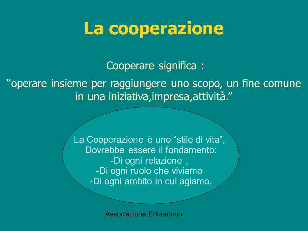 La cooperazione Cooperare significa :