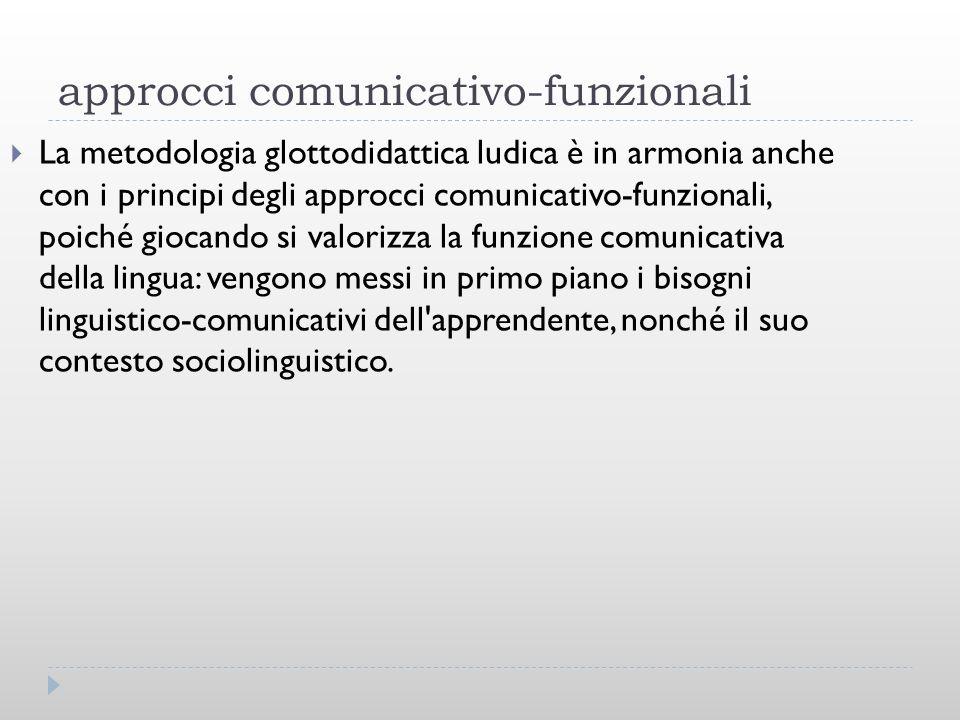 approcci comunicativo-funzionali