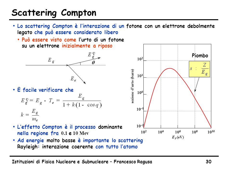 Produzione di coppie Come abbiamo detto la produzione di coppie è molto simile alla Bremsstrahlung.