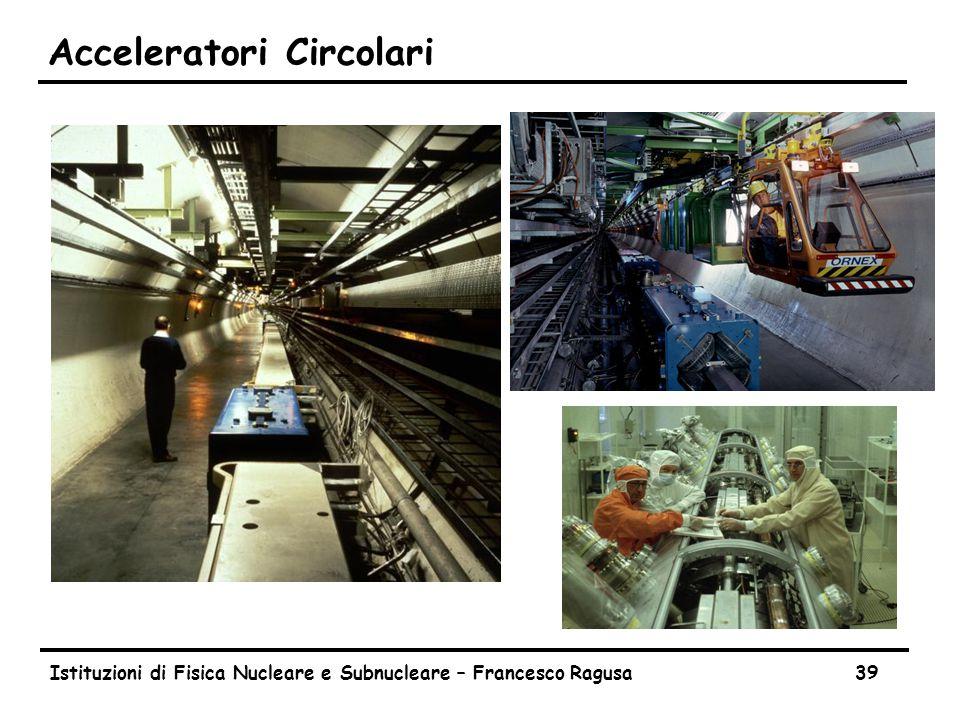 Cavità acceleratrici Consideriamo un acceleratore con una sola cavità