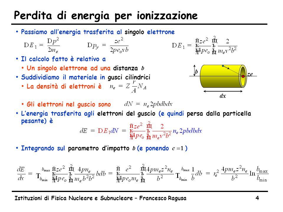 Energia trasferita in collisioni con elettroni