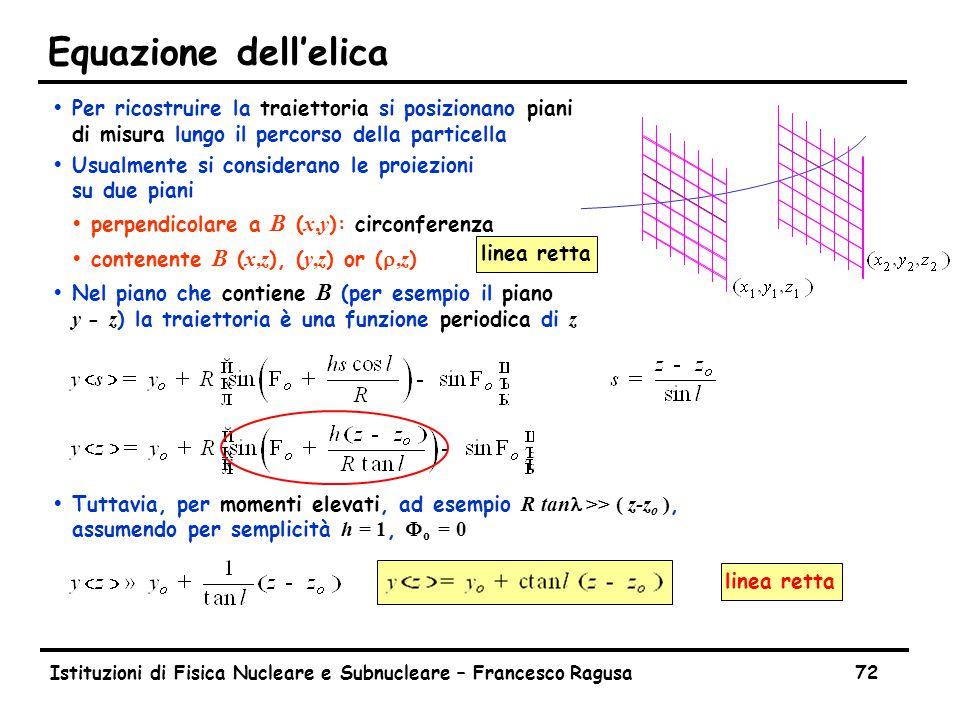 The Helix Equation Istituzioni di Fisica Nucleare e Subnucleare – Francesco Ragusa