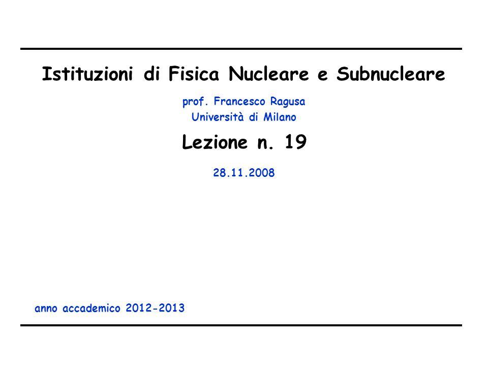 Lezione n. 20 05.12.2008