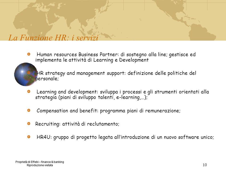 La Funzione HR: i servizi