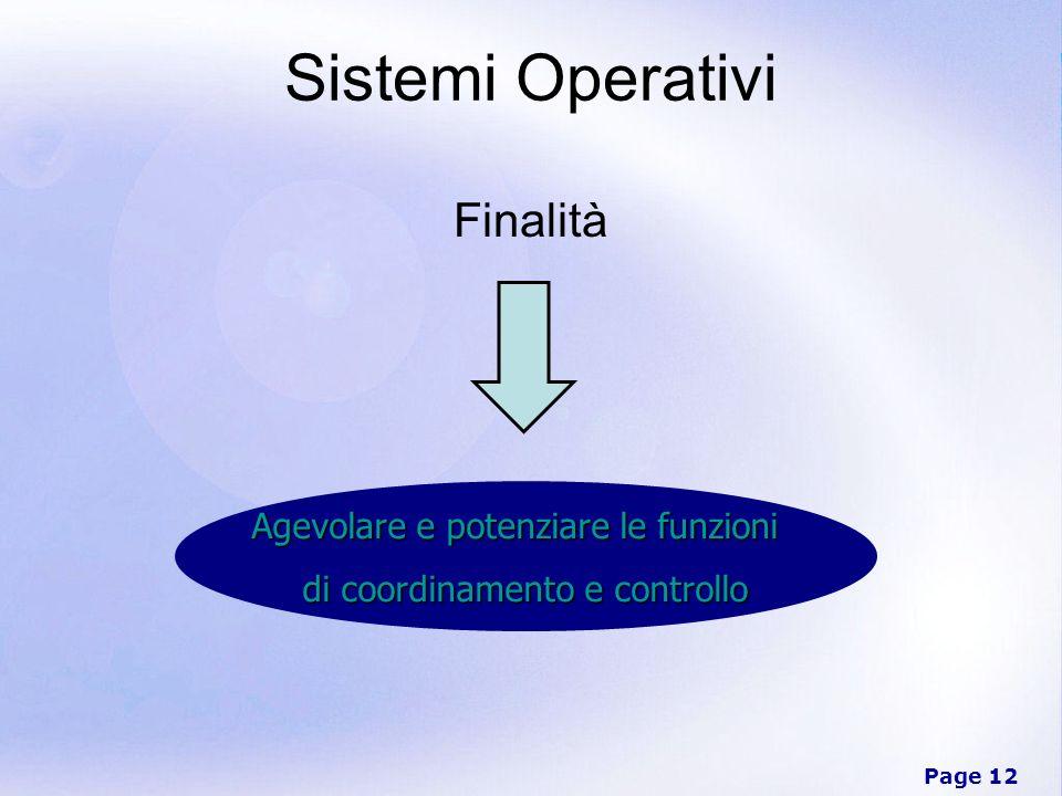 Sistemi Operativi Finalità Agevolare e potenziare le funzioni