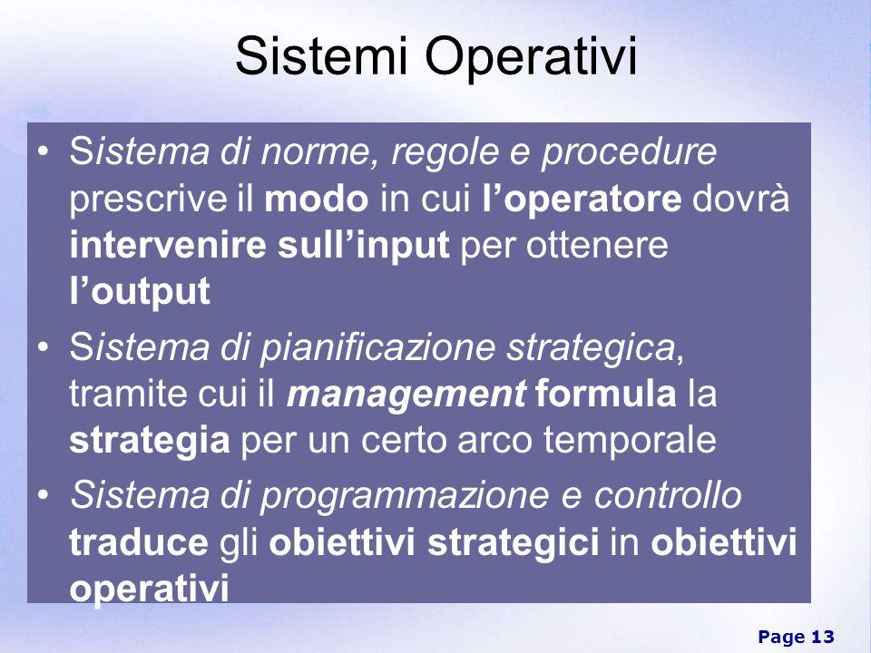 Sistemi Operativi Sistema di norme, regole e procedure prescrive il modo in cui l'operatore dovrà intervenire sull'input per ottenere l'output.