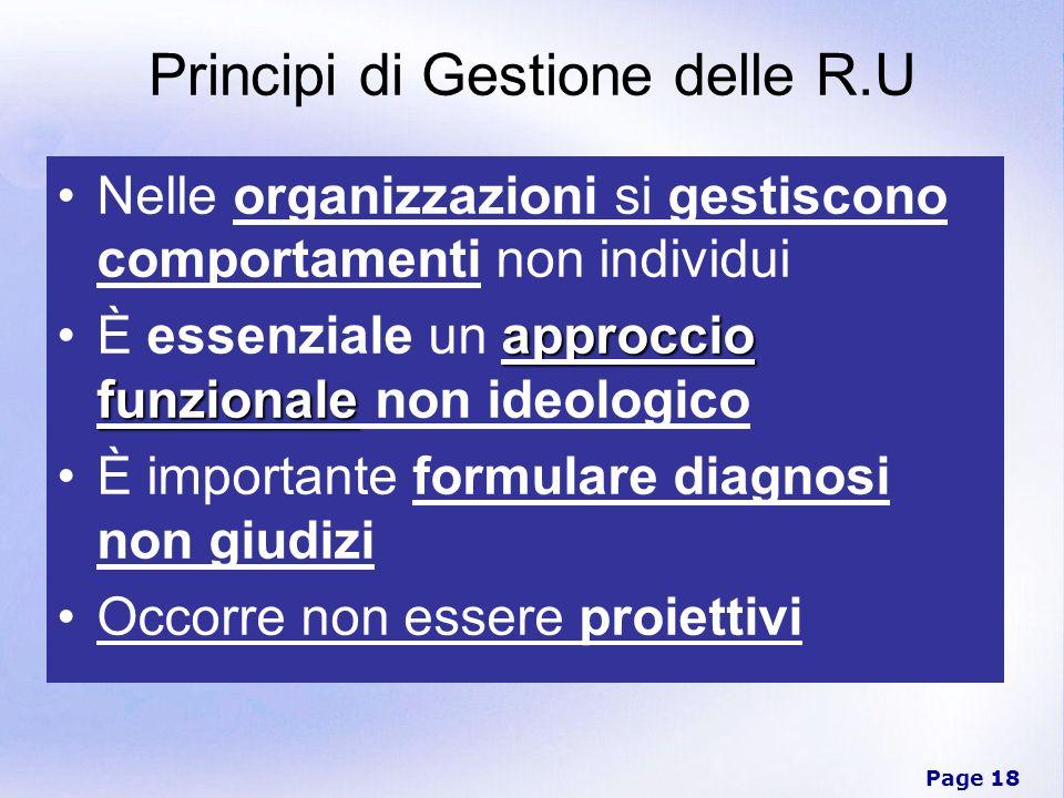 Principi di Gestione delle R.U