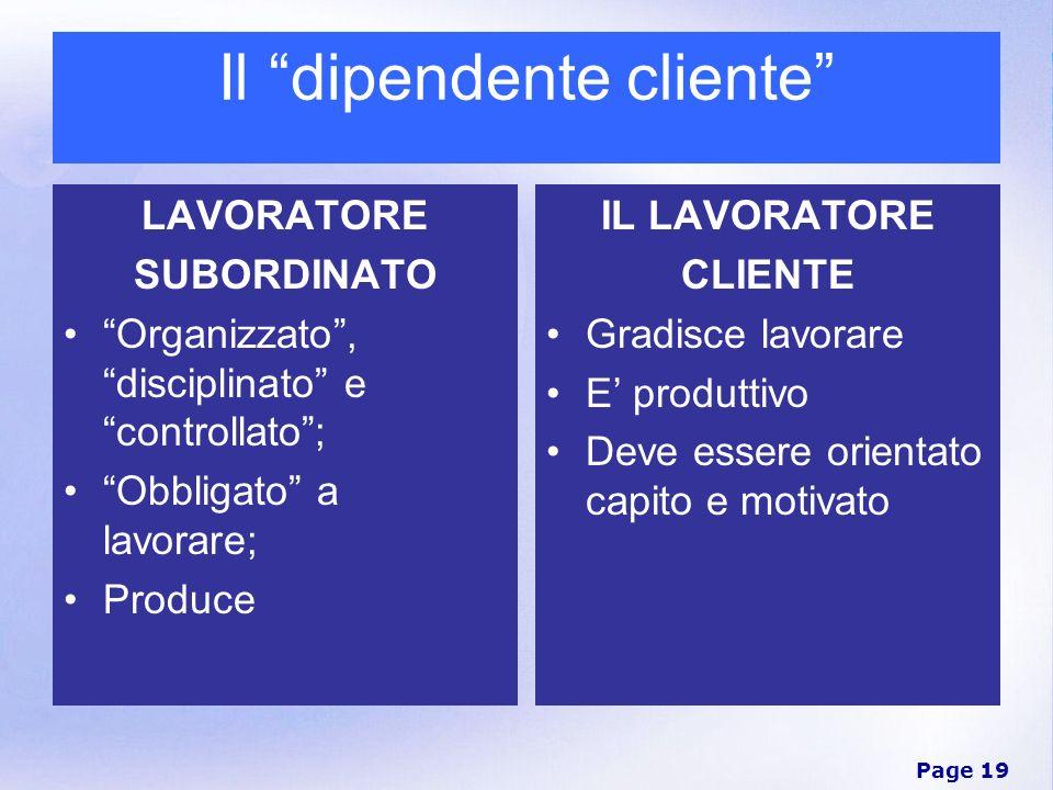 Il dipendente cliente
