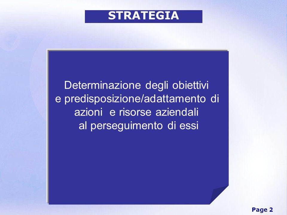 Determinazione degli obiettivi e predisposizione/adattamento di