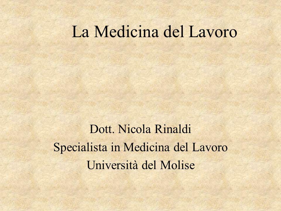 Specialista in Medicina del Lavoro
