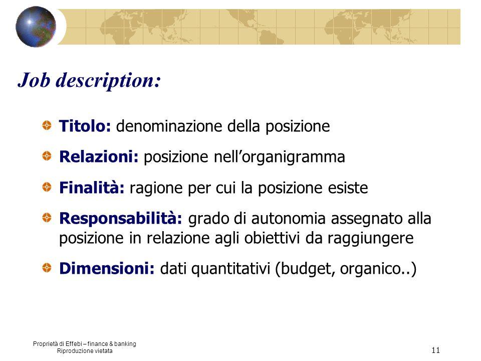 Job description: Titolo: denominazione della posizione