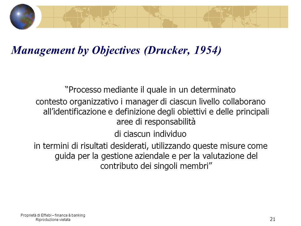 Management by Objectives (Drucker, 1954)