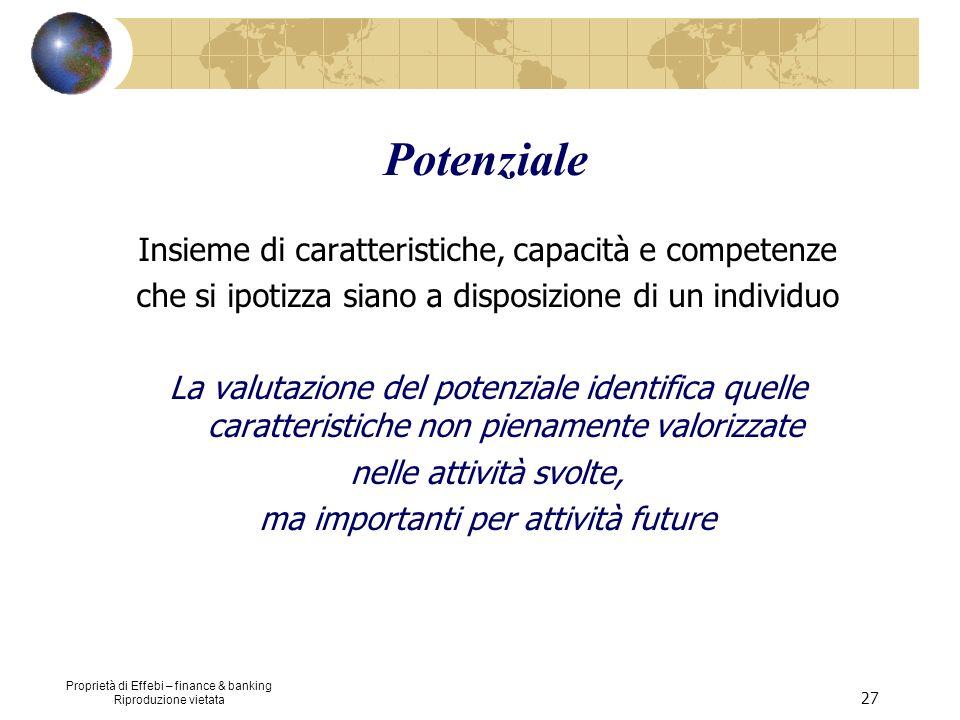 Potenziale Insieme di caratteristiche, capacità e competenze