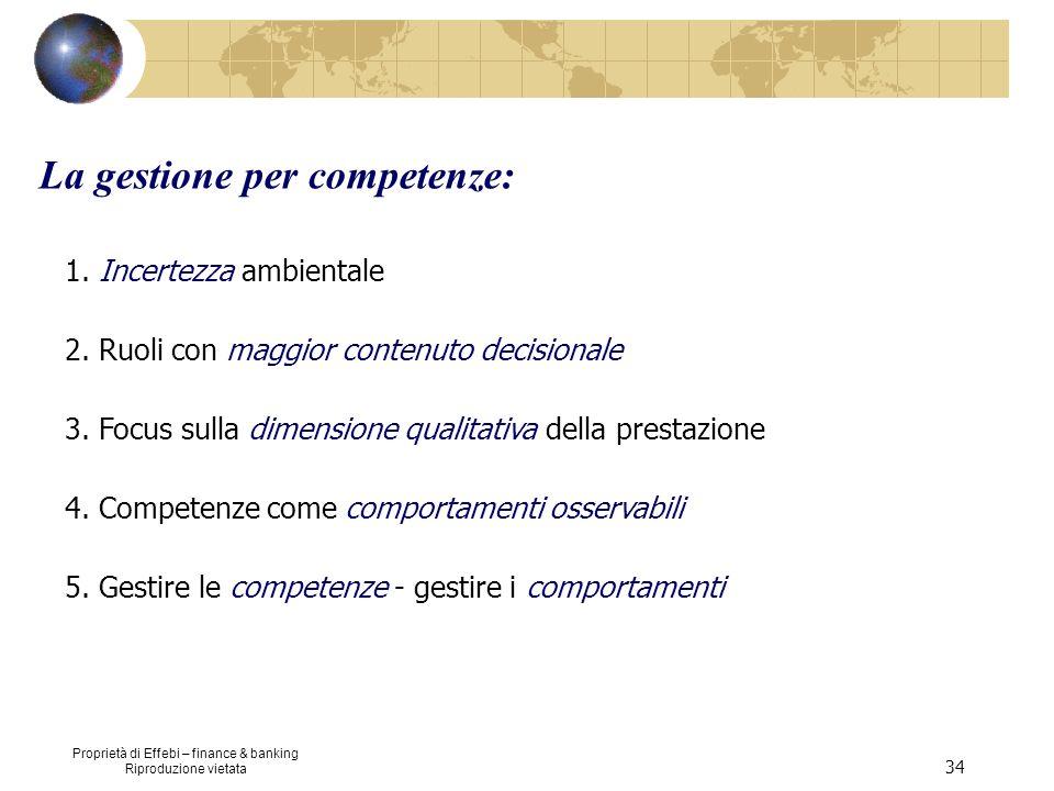 La gestione per competenze: