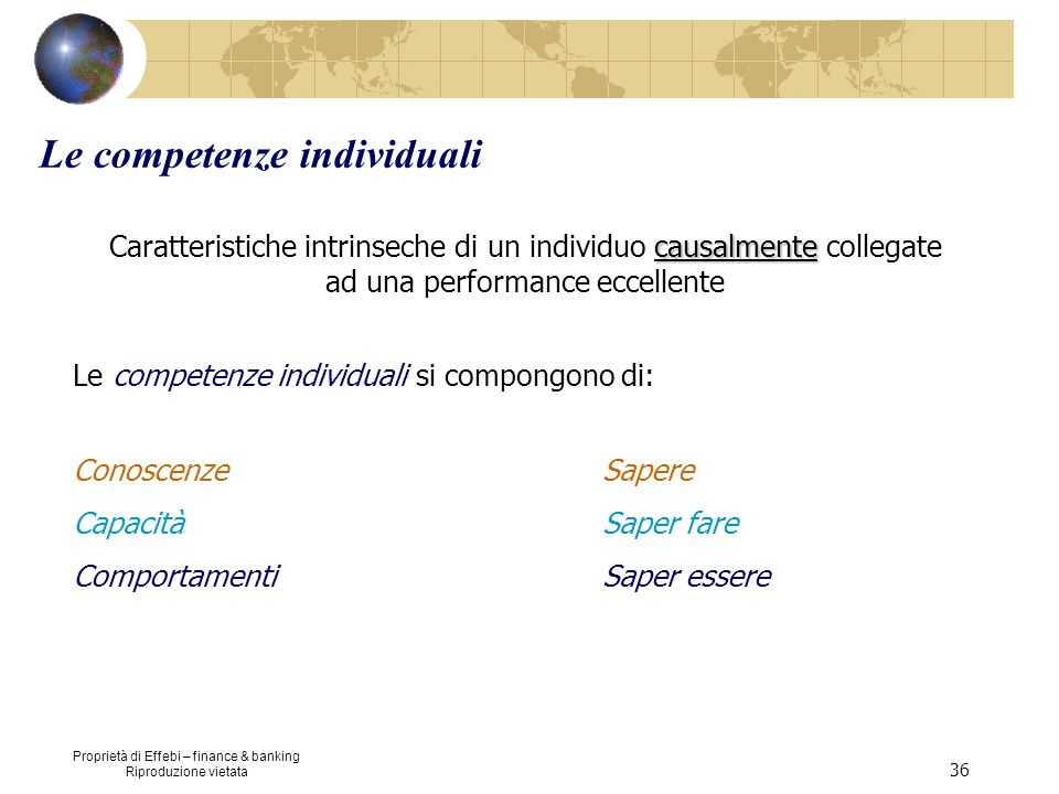 Le competenze individuali