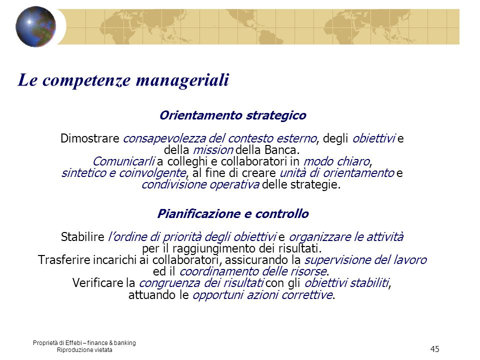 Le competenze manageriali