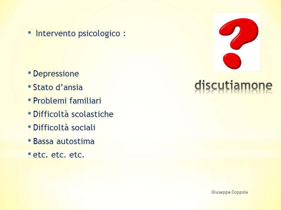 discutiamone Intervento psicologico : Depressione Stato d'ansia