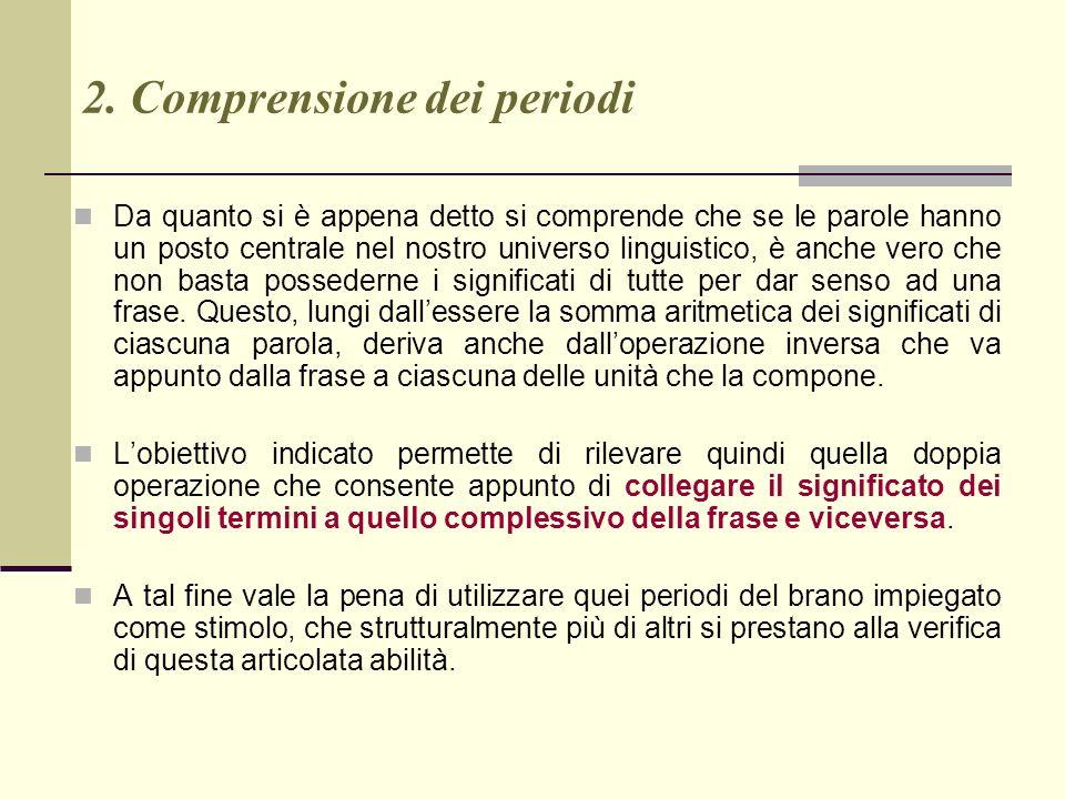 2. Comprensione dei periodi