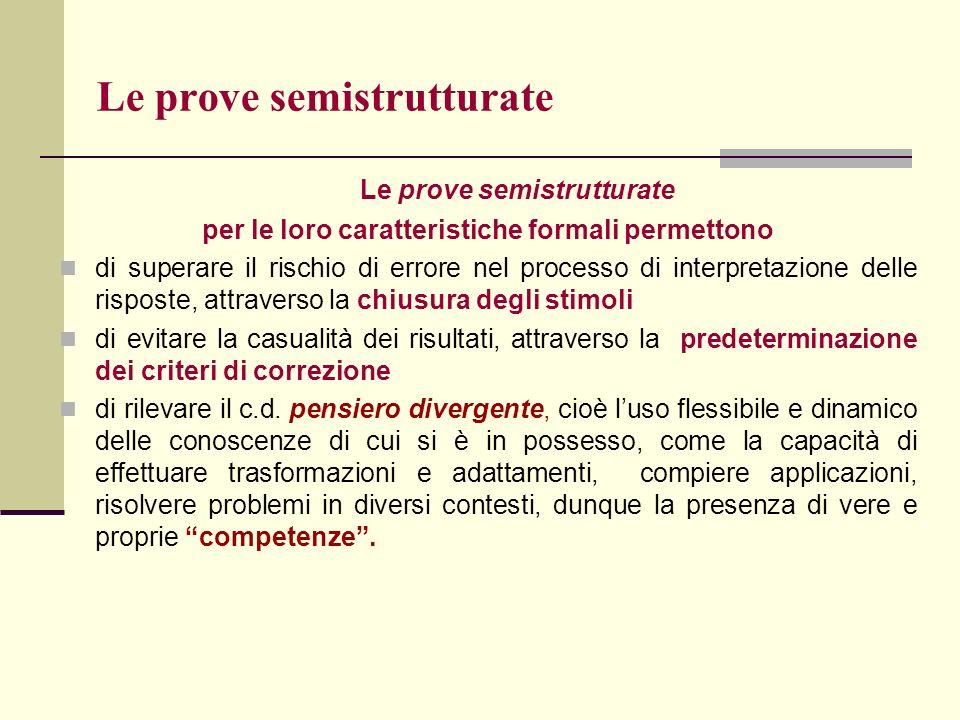 Le prove semistrutturate