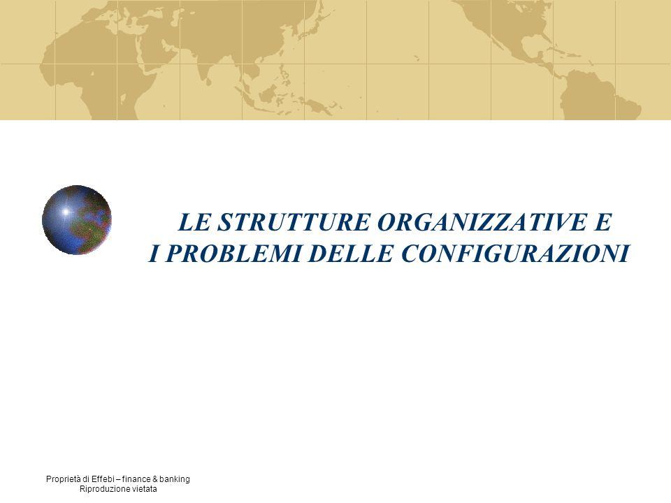 LE STRUTTURE ORGANIZZATIVE E I PROBLEMI DELLE CONFIGURAZIONI