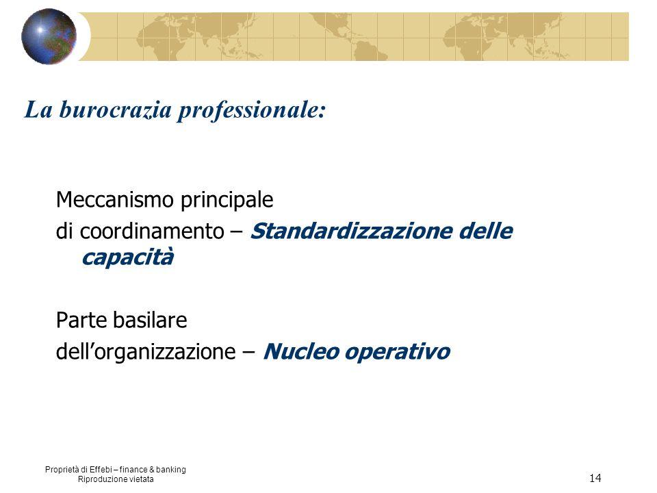 La burocrazia professionale: