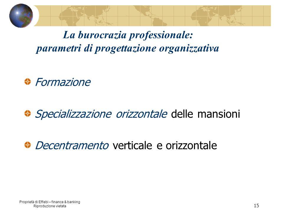 La burocrazia professionale: parametri di progettazione organizzativa