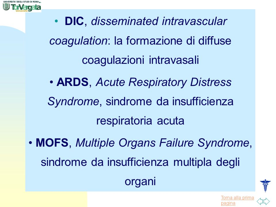 DIC, disseminated intravascular coagulation: la formazione di diffuse coagulazioni intravasali