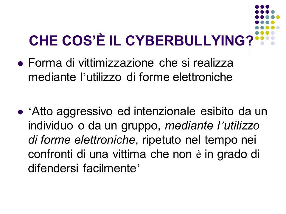CHE COS'È IL CYBERBULLYING