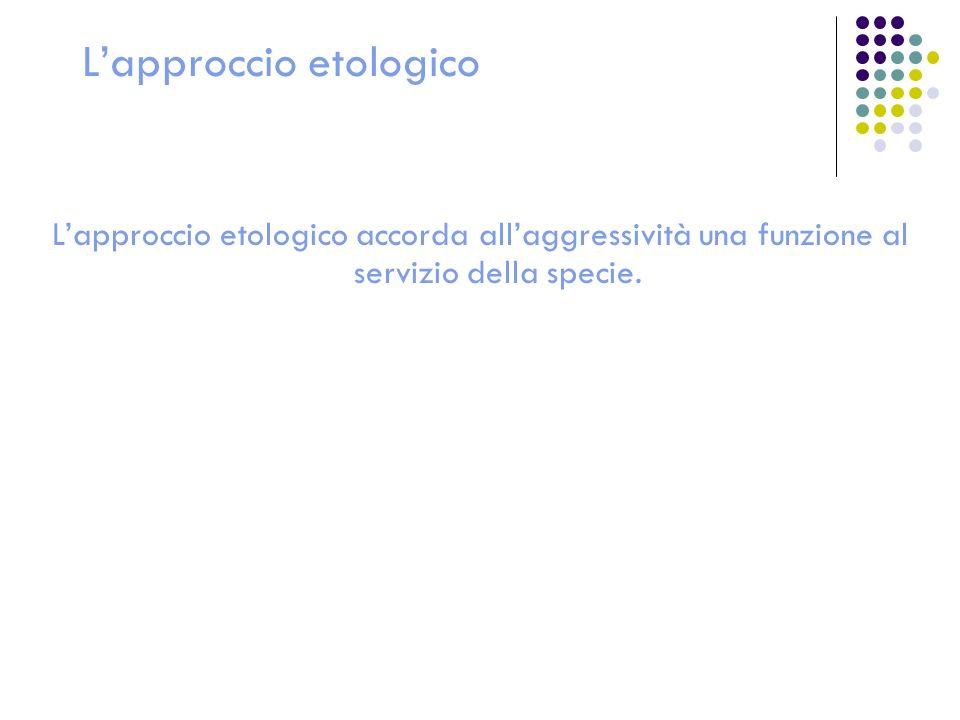 L'approccio etologico
