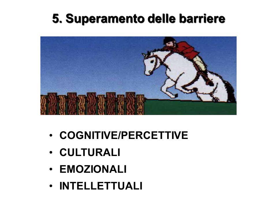 5. Superamento delle barriere