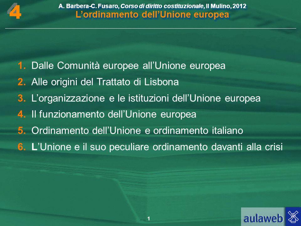 4 1. Dalle Comunità europee all'Unione europea