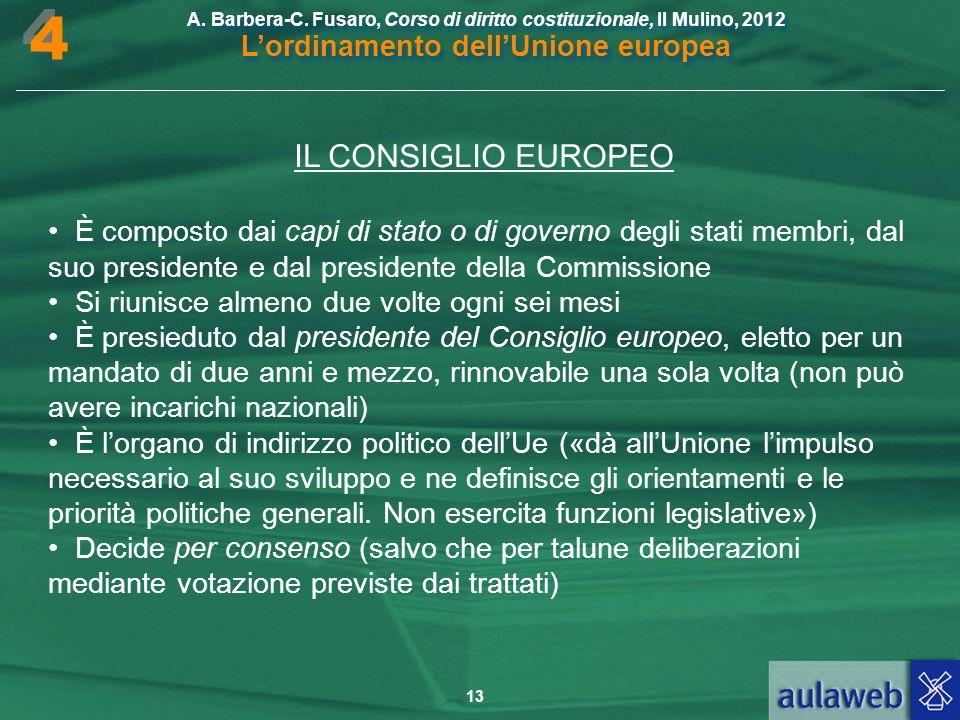4 IL CONSIGLIO EUROPEO. • È composto dai capi di stato o di governo degli stati membri, dal suo presidente e dal presidente della Commissione.