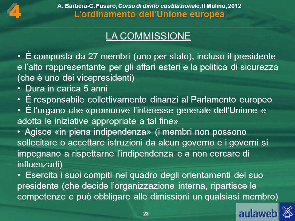 4 LA COMMISSIONE.