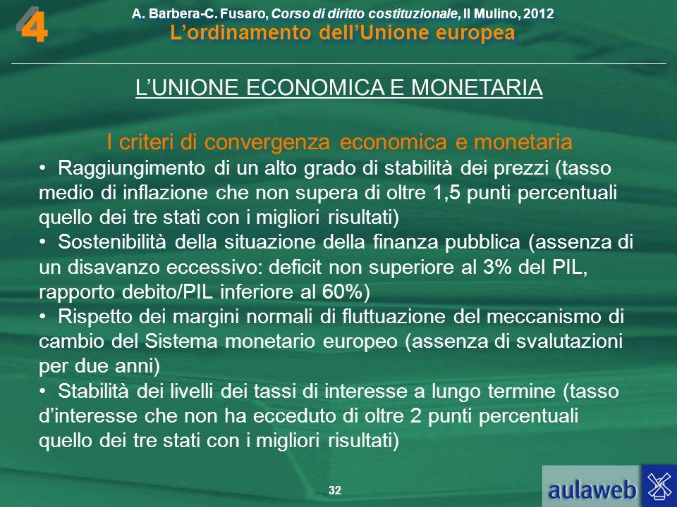 4 L'UNIONE ECONOMICA E MONETARIA