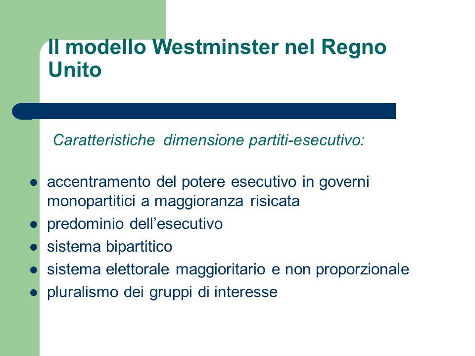 Il modello Westminster nel Regno Unito