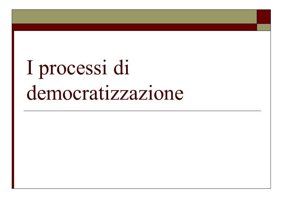 I processi di democratizzazione