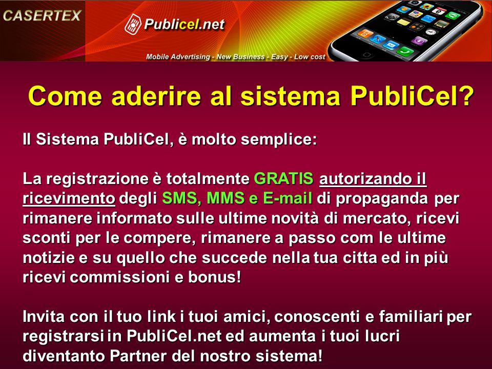 Come aderire al sistema PubliCel