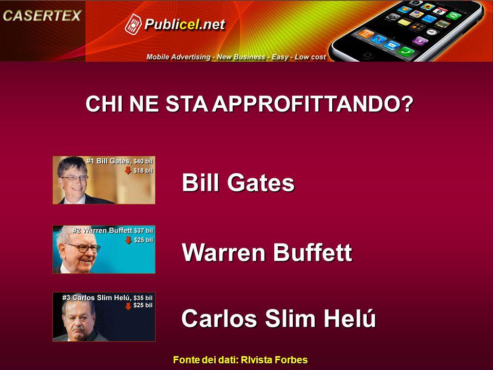 Bill Gates Warren Buffett Carlos Slim Helú CHI NE STA APPROFITTANDO