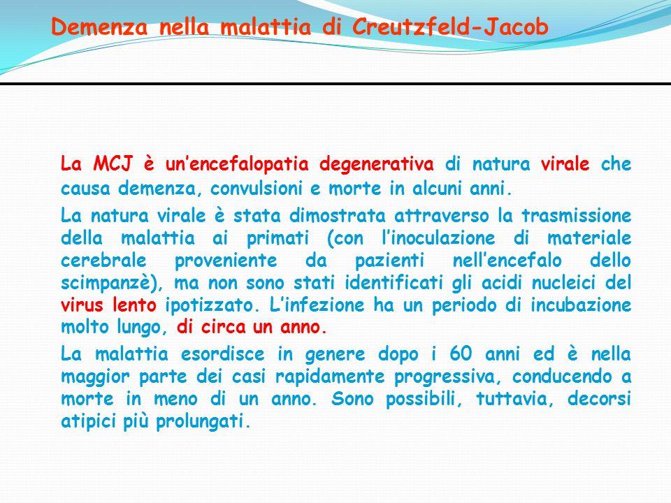 Demenza nella malattia di Creutzfeld-Jacob