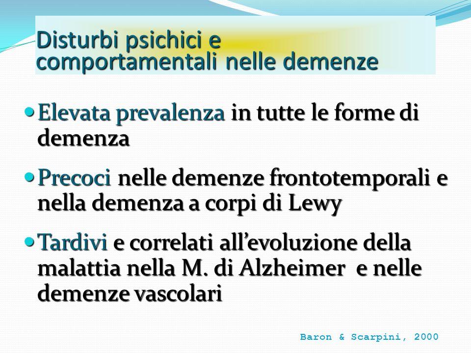 Disturbi psichici e comportamentali nelle demenze