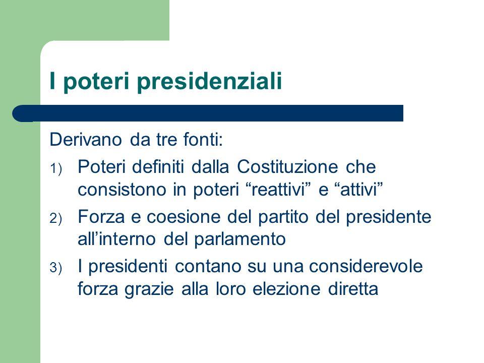 I poteri presidenziali