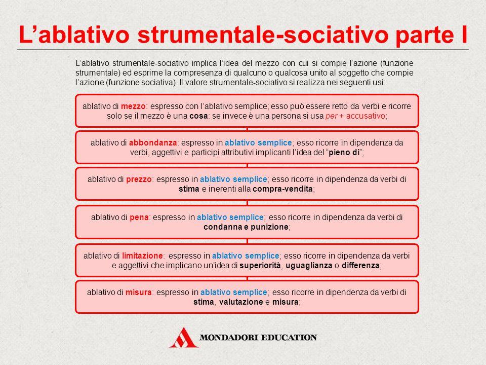 L'ablativo strumentale-sociativo parte I