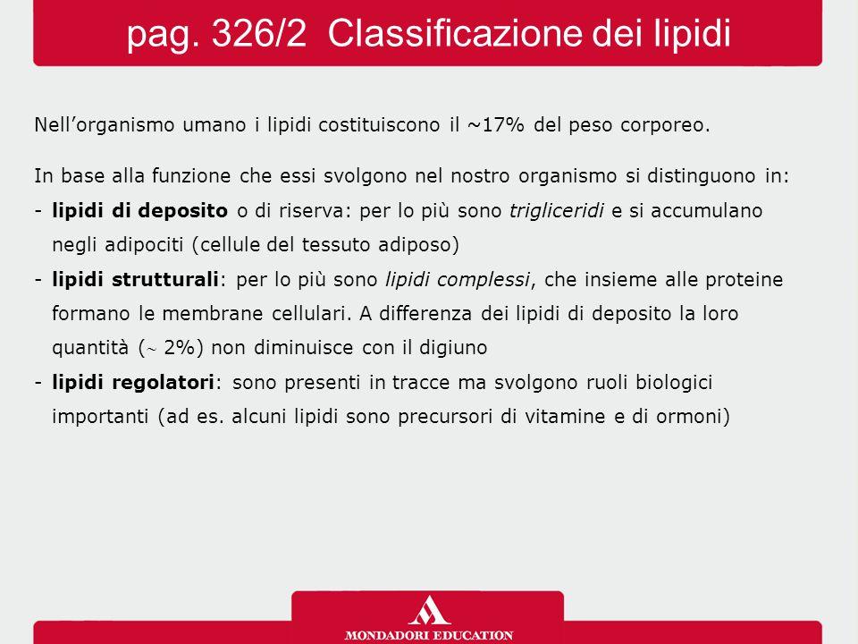 pag. 326/2 Classificazione dei lipidi