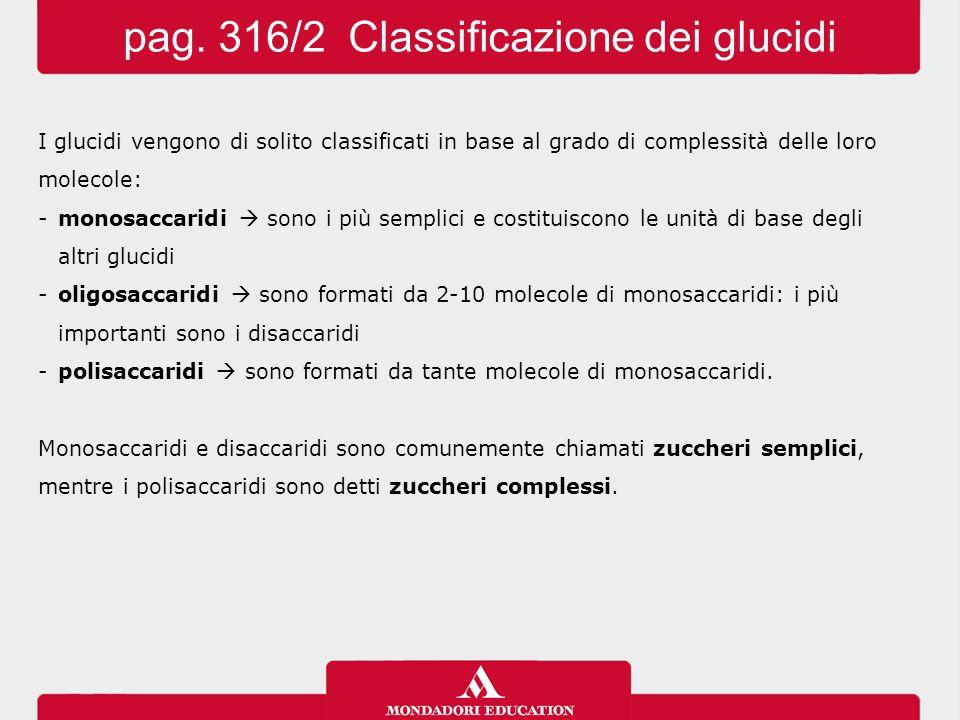 pag. 316/2 Classificazione dei glucidi