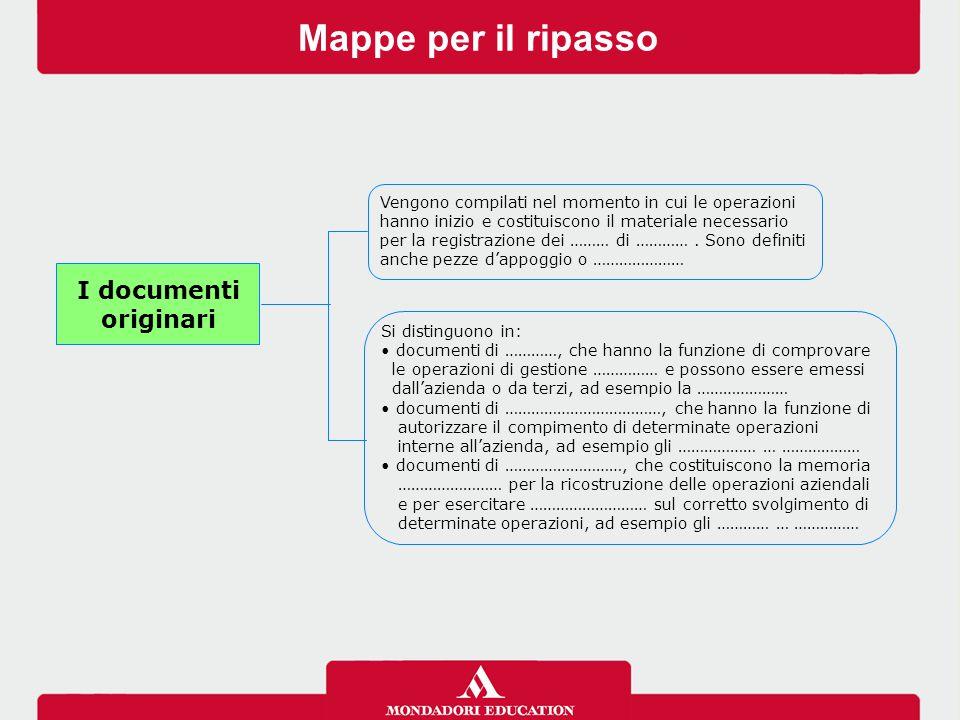 Mappe per il ripasso I documenti originari