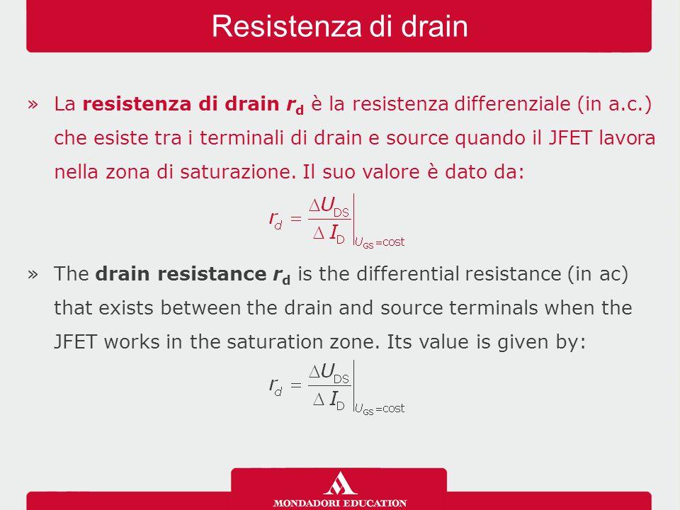 Resistenza di drain
