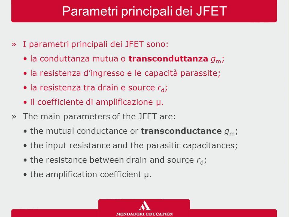 Parametri principali dei JFET