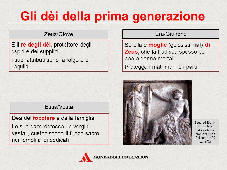 Gli dèi della prima generazione