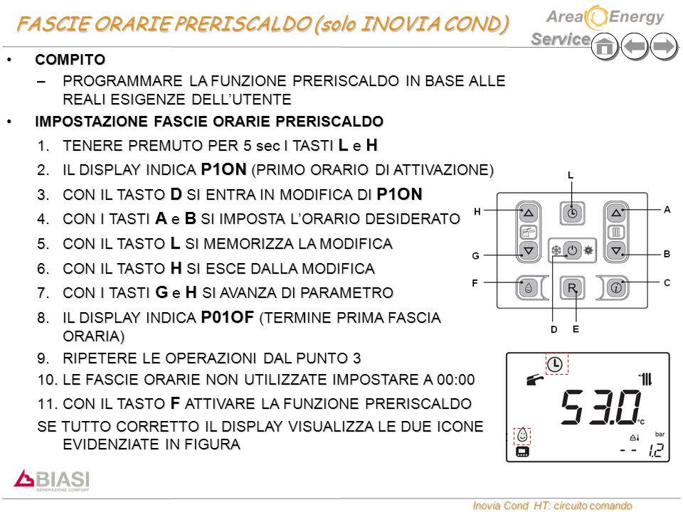 FASCIE ORARIE PRERISCALDO (solo INOVIA COND)
