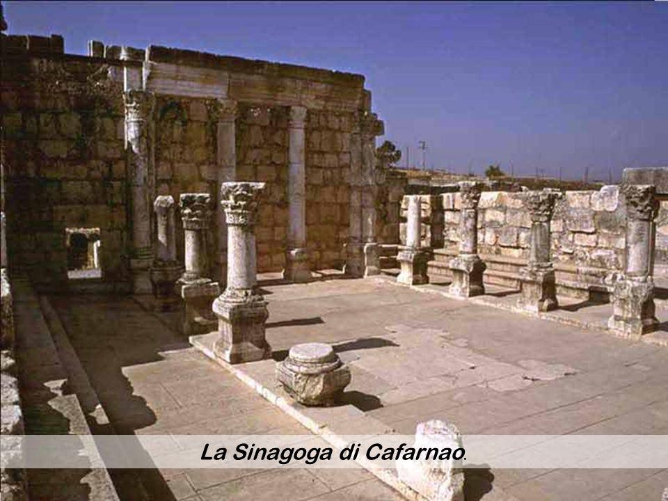 La Sinagoga di Cafarnao.